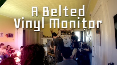 A Belted Vinyl Monitor
